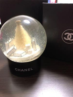 CHANEL Snow Globe Dome White Christmas Tree VIP customer Limited Novelty Benefit