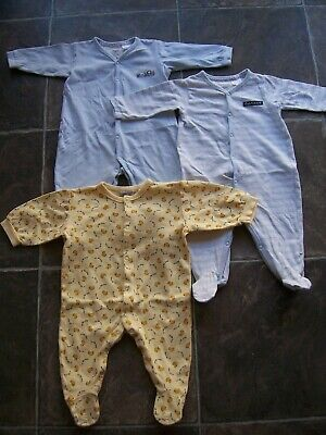 Baby Boy's Cotton Knit Coverall/Romper/One-Piece x 3 Incl OshKosh Size 00 VGUC