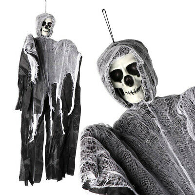Halloween Decor Prop Creepy Horror Ragged Outfits Skull Ghosts Skeleton Cosplay