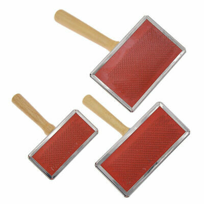 Handle Shedding Wool Carding Coms Hand Carders Felting Preparation Pet Brush