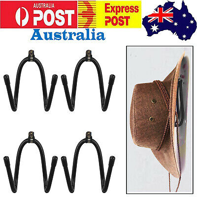 4 Western Cowboy Hat Wall Hook Hanger Cap Rack Hat Holder Home Organizer Storage