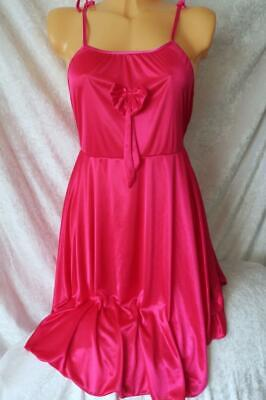 F/&F PINK SOFT JERSEY NIGHT DRESS WEAR NIGHTIE LOOSE CHEMISE VISIBLE FAULTS BNWOT