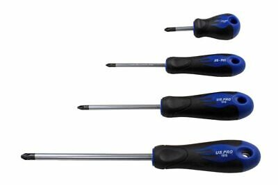 US PRO Tools 4pc Japanese Industry Standard Screwdriver Set JIS ph1,2,3 NEW 1616