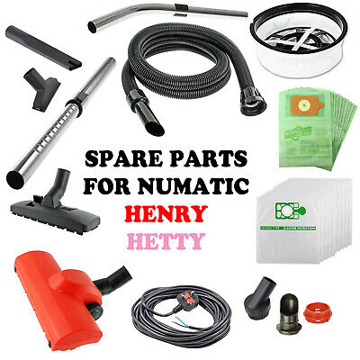 Spare Parts for HENRY HETTY NUMATIC Vacuum Hoover Accessories Hose Tool Spares
