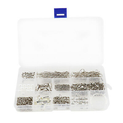Jewelry Making Kit Box Mixed Findings For Earring Maker DIY Starter Silver