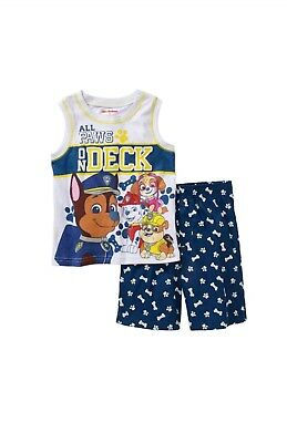 Nickelodeon Paw Patrol Toddler Boy's Tank Top Shirt Shorts Outfit Size 3T NWT