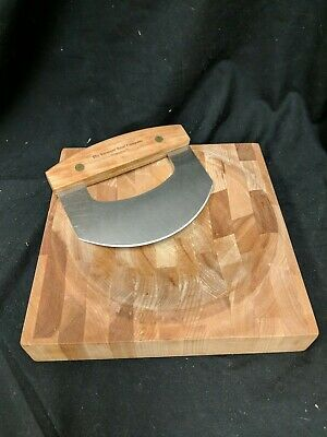 End Grain Chopping Bowl With Knife, The Vermont Bowl EUV Company Free Shipping