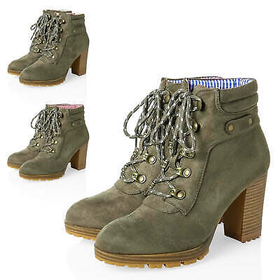 Hailys Ladies Lace Ankle Boots Traditional Costume Oktoberfest %