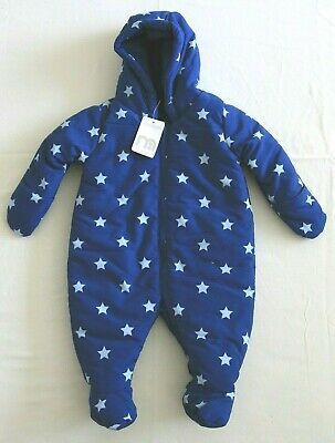 Mothercare Padded Blue Snowsuit Aged 0-3 Months BNWT RRP £20.00