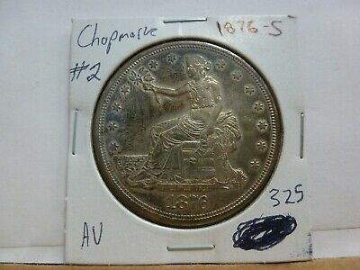 1876-S Trade Dollar with Chop Marks #2
