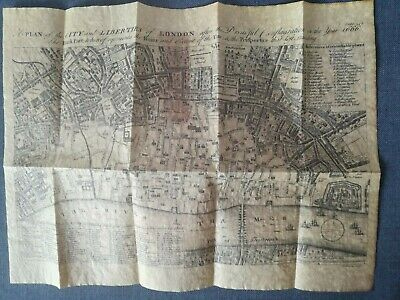 London After The Great Fire 1666 Plan City of London.Authentic Replica