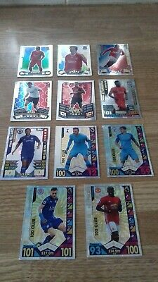 Match Attax 2016/2017 assorted 101 club legends and hundred clubs