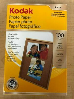 KODAK PHOTO PAPER GLOSS 100 SHEETS 4x6 NEW