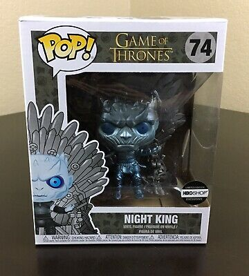 Funko Pop! Game of Thrones Night King (Iron Throne - Metallic) #74 HBO Shop EXCL