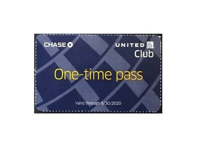 United Airlines UA Club One-Time Pass - Quick Email Delivery Expires07/18/2020