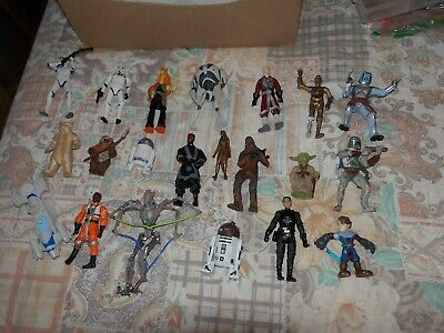 Star Wars Mixed Lot Of Toys As Shown  Lot  2 Figures  Mixed Sizes