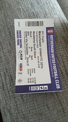 MAN UTD U21s V ROTHERHAM  TICKET STUB PLAYED 6/AUG/2019