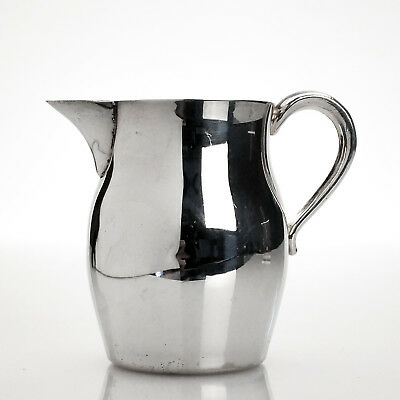 Vintage Silver Plate on Copper Milk Cream Jug Pitcher