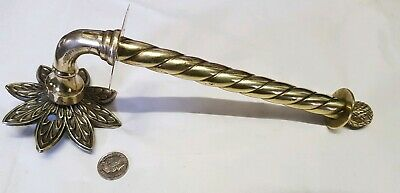 Old Vintage Brass Wall Mount Toilet roll Paper Holder French BATHROOM c1930