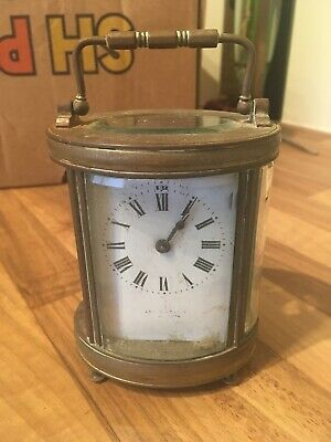 Vintage Oval Carriage Clock Spares/repairs Margate Fire Service 1915