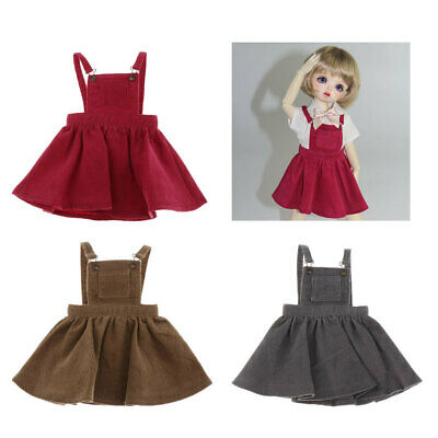 1//6 Scale Doll Clothes Girl Suspender Skirt Outfits For 12in BJD Dolls Blue