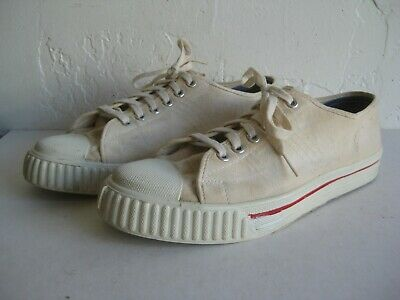 498a569953756 VTG 1950'S CANVAS BASKETBALL SNEAKERS SHOES NOS DEADSTOCK UNUSED! USA  PURCELL?