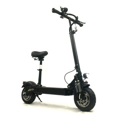 FLJ Electric Smart E Step Scooter With Seat - 2400W - 20Ah Battery - Black