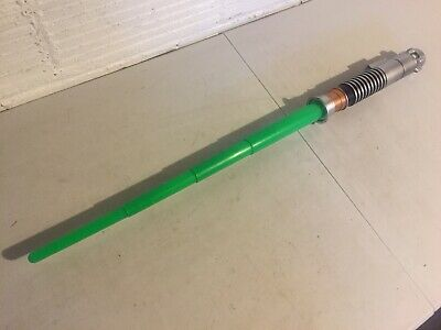 Star Wars Green Lightsaber 2002 Hasbro Costume Cosplay Skywalker Yoda Obiwan