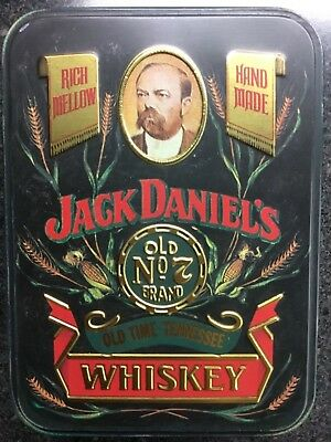 🥃 RARE Jack Daniel's Old No 7 Brand Old Time Tennessee Whiskey Tin & 2 x 50ml