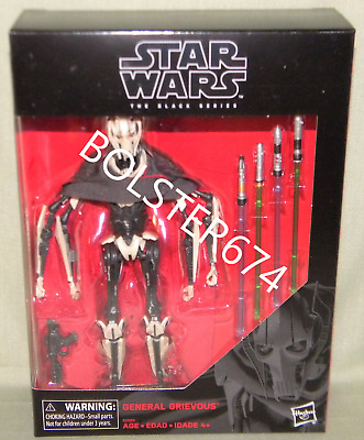 "GENERAL GRIEVOUS D1 Black Series 6"" Scale Deluxe Action Figure Star Wars"