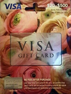 $100 GIFT CARD ACTIVATED No Fees After Purchase -Non-Reloadable