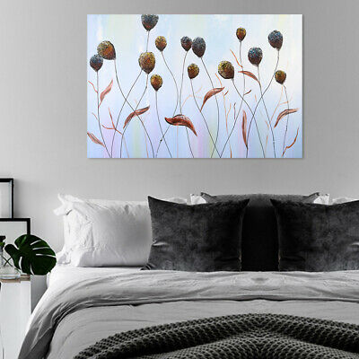120x80cm Hand Painted Modern Oil Painting Wall Art Canvas - Reed Flowers Framed