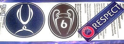 2019 Liverpool SUPER CUP CHAMPIONS Official SportingID Football Badge Patch Set