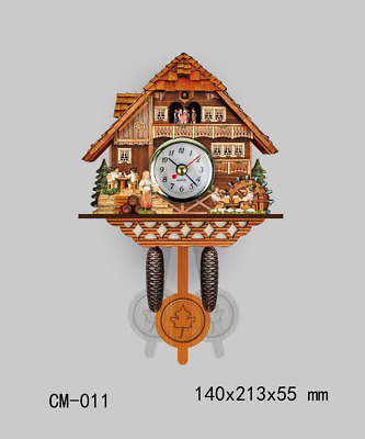LE Retro German Cuckoo Clock Antique 3D Art Wall Clock Home Office-Decor