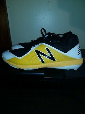 New Balance Low-Cut 4040V4 Tpu Baseball Cleat Mens Shoes Yellow With Black