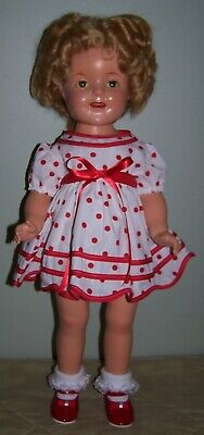 "LARGE 22"" 1930's COMPOSITION SHIRLEY TEMPLE DOLL BY IDEAL"