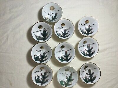 10 Antique Asian China Chinese Japan Japanese Porcelain soy rice dipping Bowls
