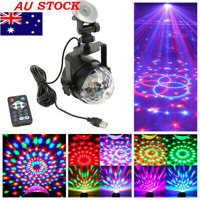 Auto Disco Magic Ball Lights RGB LED Stage Light USB Powered Party Car Lamp AU