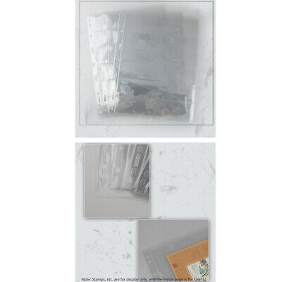 10 Sheet Stamp Stock Page 9 Binder Holes Transparent 6 Strips  One-sided