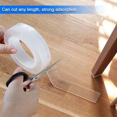 Double-Sided Anti-Slip Nano Magic Tape Traceless Washable Adhesive Invisible Gel