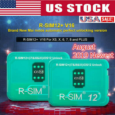 R-SIM 12+ V16 RSIM 14 V18 Nano Unlock Card RSIM for iPhone XS XR 4G iOS 12.3 lot