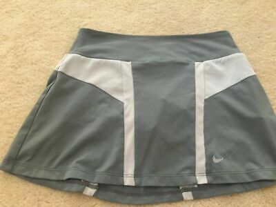 NIKE Dri-Fit little GIRLS TENNIS SKIRT Size Small 5/6 Gray with built in shorts