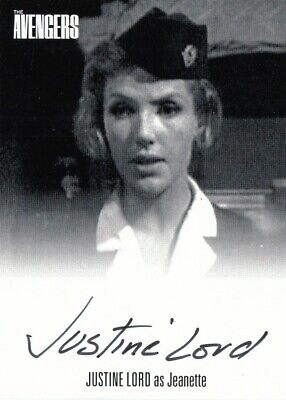 THE PRISONER Autograph Card Justine Lord as SONIA JL2 Case Card Unstoppable