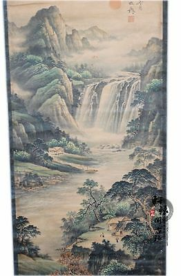 Rare antique chinese museum painting scroll Landscape painting / Zheng Banqiao
