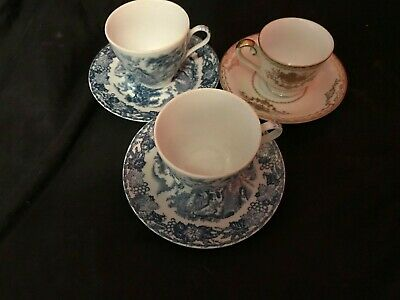 Antique Fine China X 3 Pieces (Rare Japanese Meito Included)