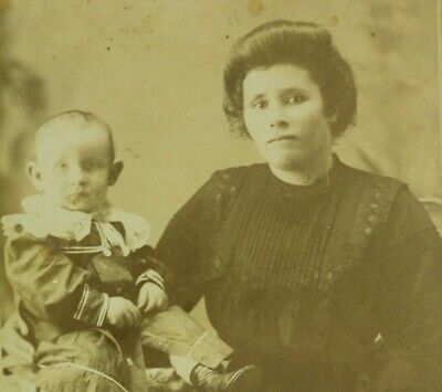 Vintage Real Photograph John Henry Wright age 1 with Mother Collectable 1800's