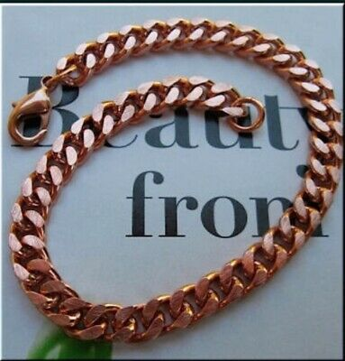 Available in 18 to 30 inches. 1//4 of an inch wide Solid Copper Chain CN732G