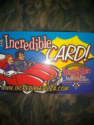Incredible Pizza of Memphis Used Collectible Gift Card Credit 10 Cents, Bonus 10
