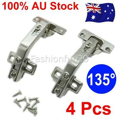 4 piece Kitchen Cabinet Cupboard Wardrobe 135°Concealed Corner Door Hinge Hinges