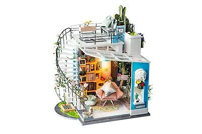 Genuine Robotime DIY Miniature Dollhouse kit Dora's Loft